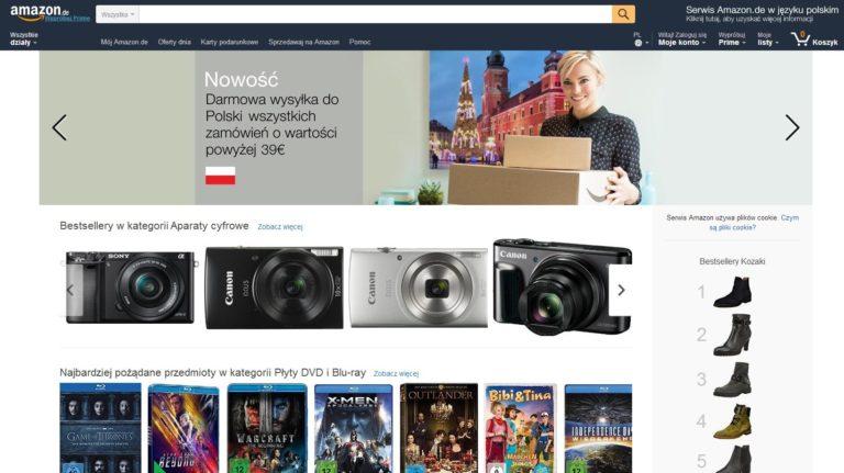 Amazon w języku polskim, ale nie pod polską domeną