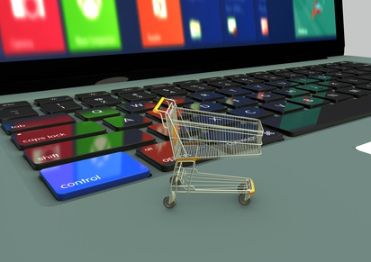 Shopping cart, Typography, 3D